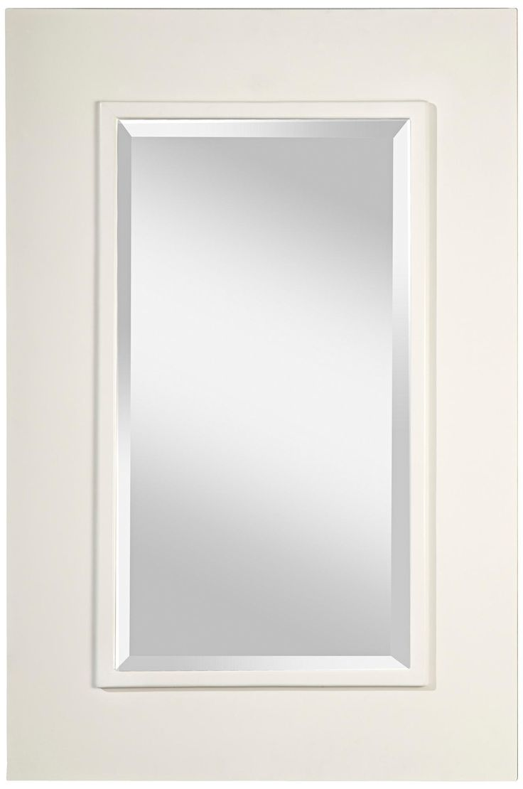 Murray Feiss Smythe Framed 36 High White Wall Mirror Mirrors Pinterest Products White