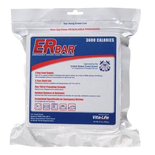 ER Emergency Ration 3600  Calorie, 5-Year Emergency Food Bar