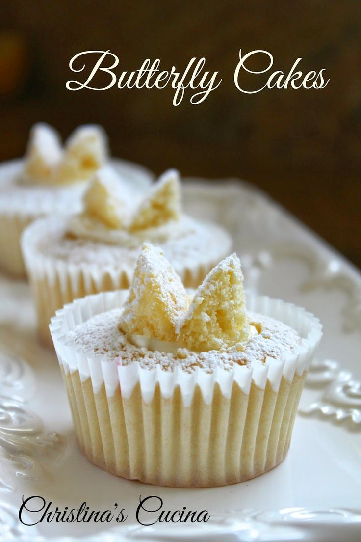 Christina's Cucina: Traditional British Butterfly Cakes or Fairy Cakes (Cupcakes)