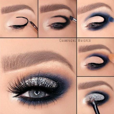 Eye Makeup for Blue Eyes * https://makeupjournal.com/eye-makeup-for-blue-eyes/?utm_source=Pinterest&utm_medium=Social&utm_campaign=PIN-TrendyIdeasofEyeMakeupforBlueEyes&utm_content=avy-blue-eyeshadows-cut-crea