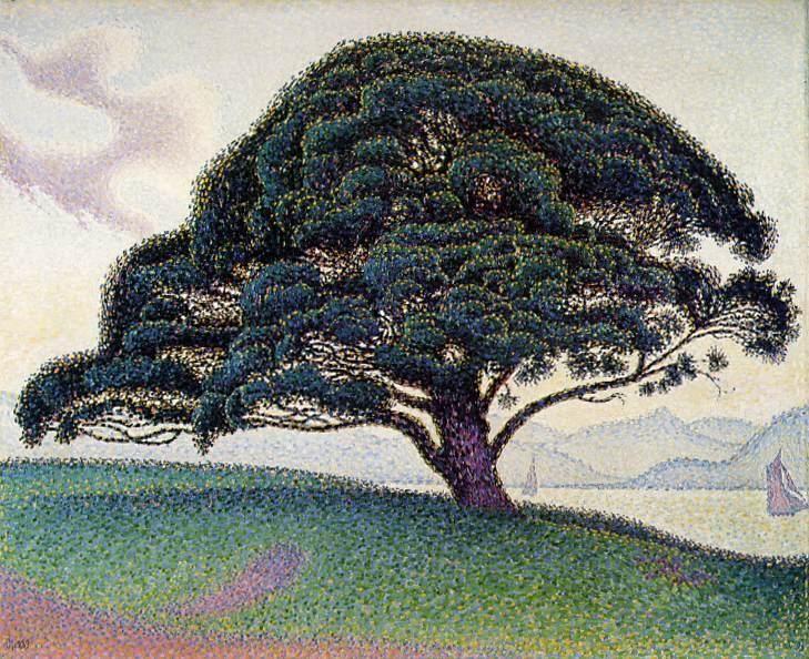 Paul Signac - A Pine on the Road to St.Tropez 1893 - Le pin de Bonaventura a Saint-Tropez (The Bonaventure Pine in Saint-Tropez),
