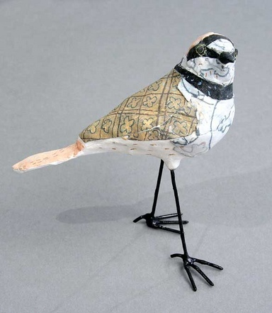 Little Ringed Plover by Susan O'Byrne  12cm h x 12