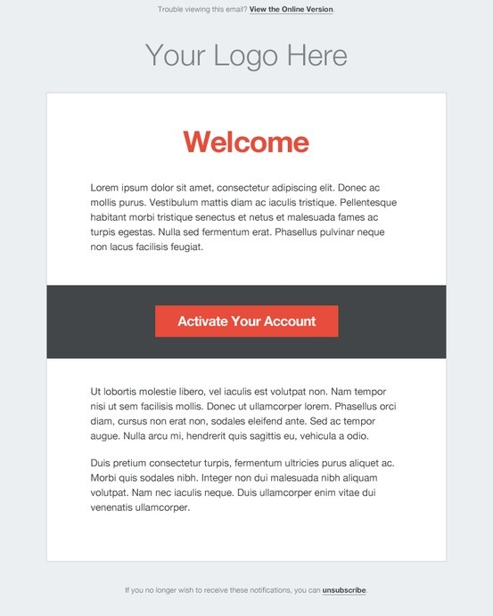 Minimal for Change password email template