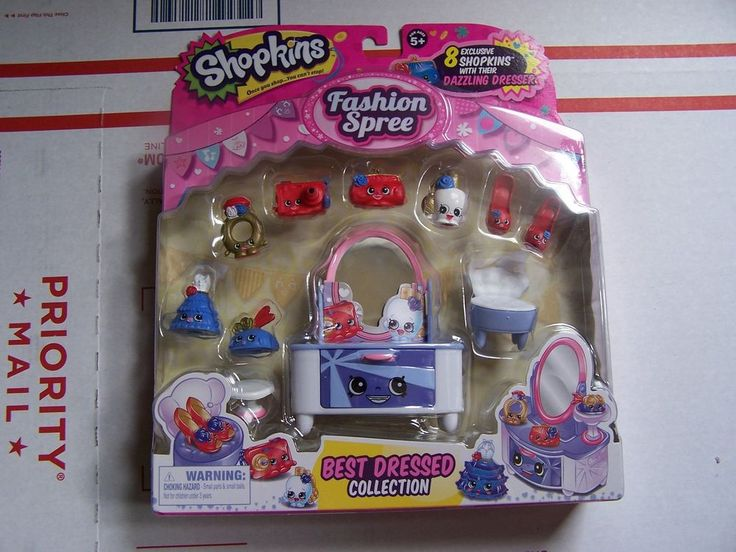 NEW! Shopkins Season 3 Fashion Spree Best Dressed Collection! 8 Pack! (<12 Pcs) #moose