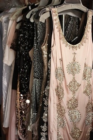 Sparkly twenties dresses.