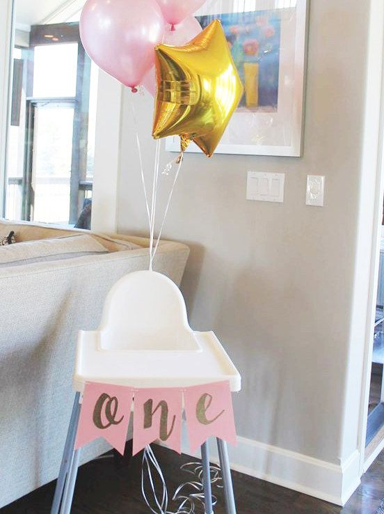Highchair banner by PinkAntlersShop on Etsy