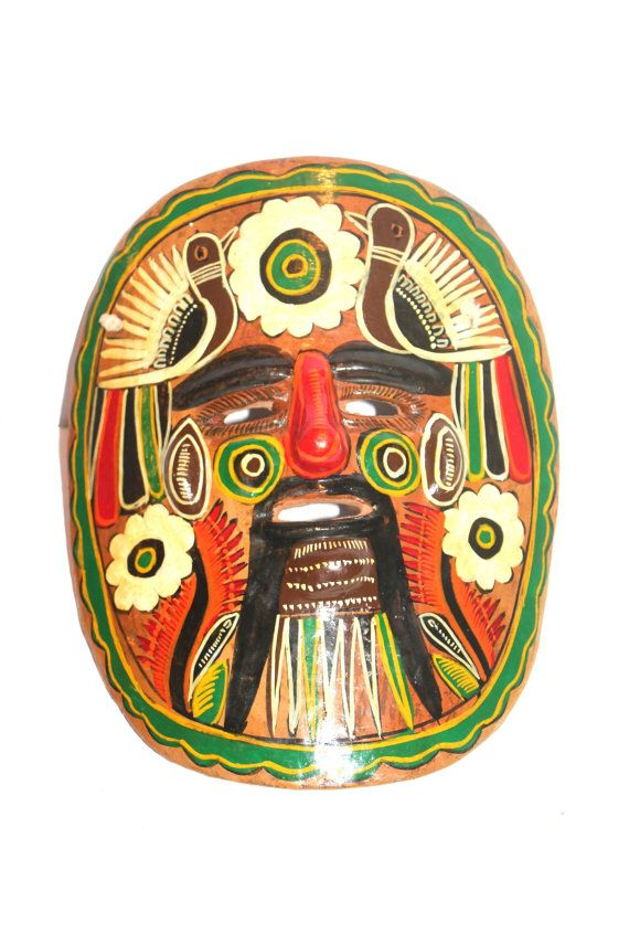 Vintage Mexican Wall Mask Pottery Clay by AntiqueAlchemyShop, $22.00