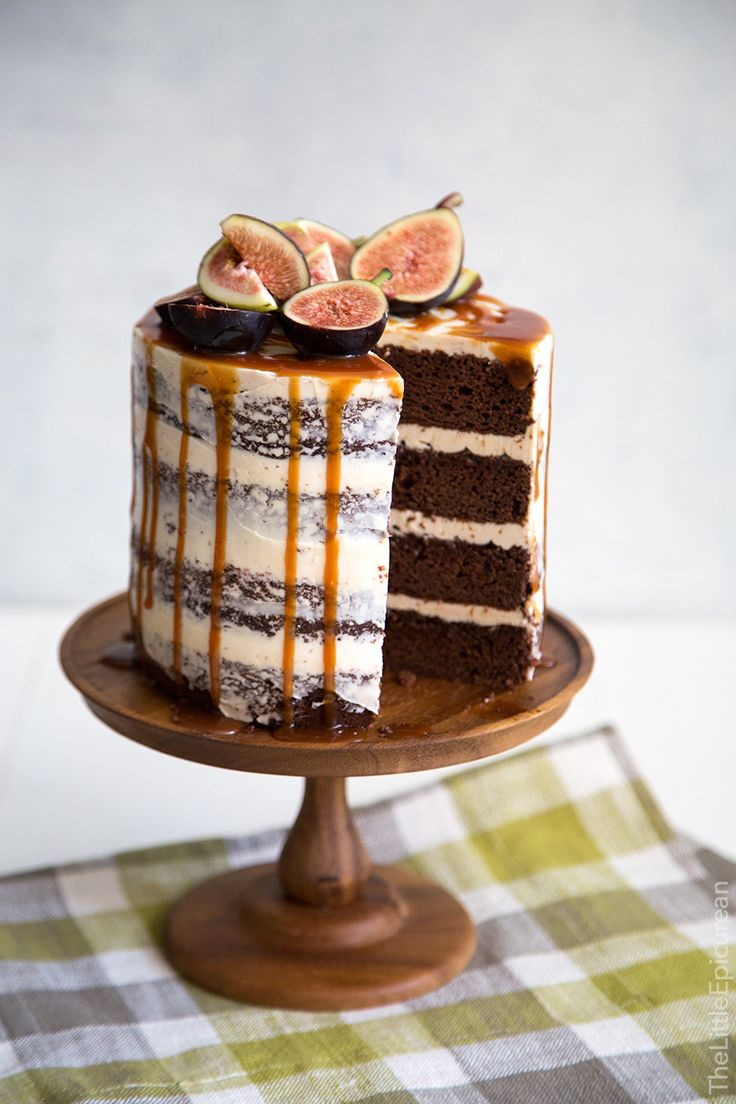 Caramel Fig Chocolate Cake