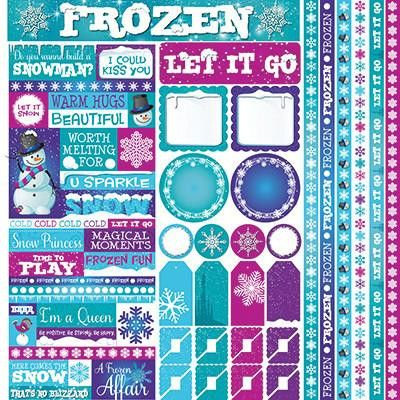 Reminisce Disney Frosted Frozen Stickers Sheet