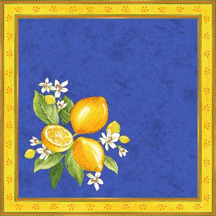Provence Blue Lemon Table Runner   Google Search · French FabricTable LinensDining  ...