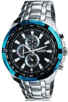 Handcuffs Curren Sports Analogue Military Black dial Men's Watch - CUR8023BL