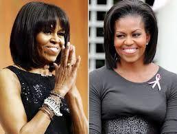 Mishel Obama hair style
