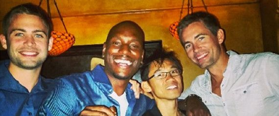 Tyrese Celebrates 'Fast 7' Wrap With Paul Walker's Brothers