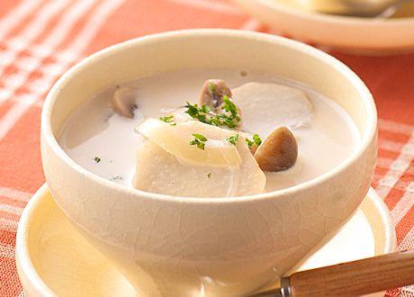 きのこのクリーミースープ (レシピNo.2065) ネスレ バランスレシピ