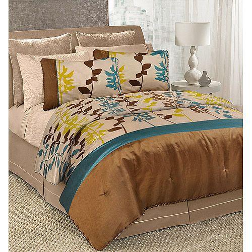 Linear Garden Bedding Comforter Set