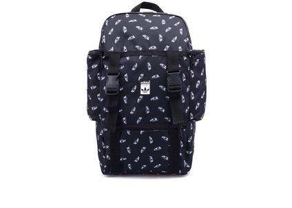 Černý velký batoh s potiskem adidas Originals