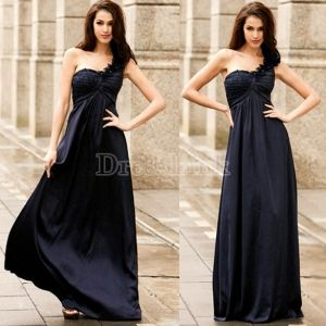 New Women's One Shoulder Lace Formal Evening Party Wedding Maxi Long Full Length Dress