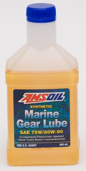 AMSOIL Synthetic Marine Gear Lube is water resistant. It maintains extreme-pressure protection even when contaminated with as much as 10% water. It promotes longer seal life to help prevent water contaimantion. AMSOIL Synthetic Marine Gear Lube is designed to prevent rust and is compatible with aluminum, copper and brass alloys.