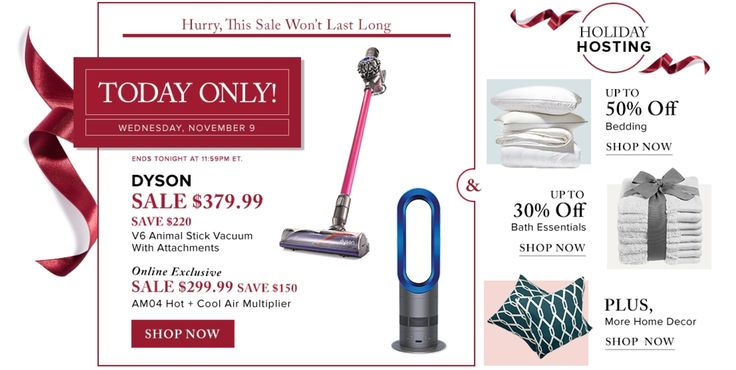 Hudsons Bay Canada Pre Black Friday One-Day Sale: Save $220 Off DYSON V6 Animal Stick  $150 Off Air Multiplier... http://www.lavahotdeals.com/ca/cheap/hudsons-bay-canada-pre-black-friday-day-sale/136059