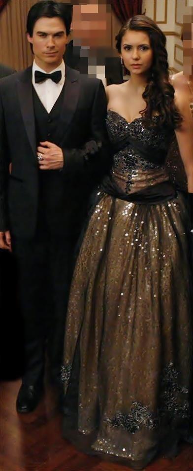Damon and Elena  Stunning @ the Originals Ball Esther's Ball #TVD #vampirediaries