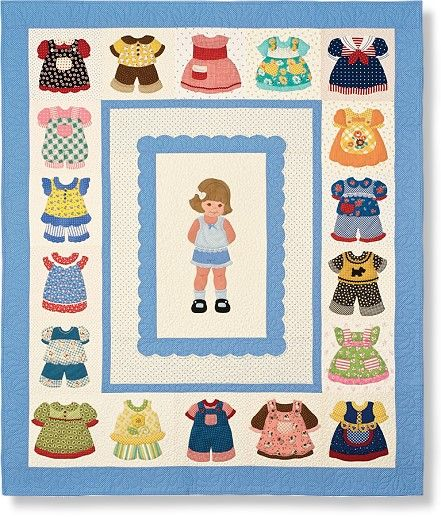 Paper doll quilt for the little girl in all of us