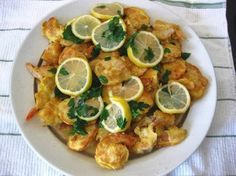 I made the Shrimp Francese from October issue of Martha Stewart Living magazine. Delicious!