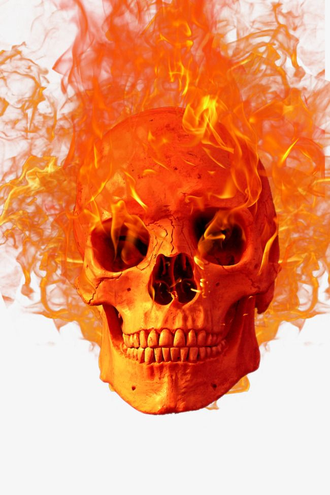 Skull Fire Hellfire Png Transparent Clipart Image And