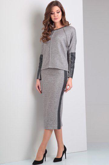 15045e6985ee Модель 1244 серый Диамант в 2019 г. | Мода | Платья, Женская одежда ...