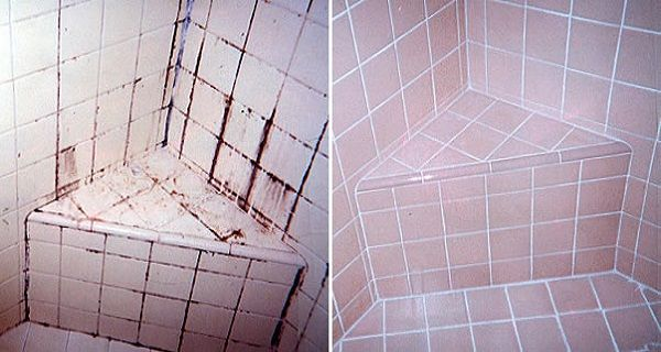 3-Ingredient Natural Grout and Tile Cleaner - keeps tiles spotless & grime-free without chemicals