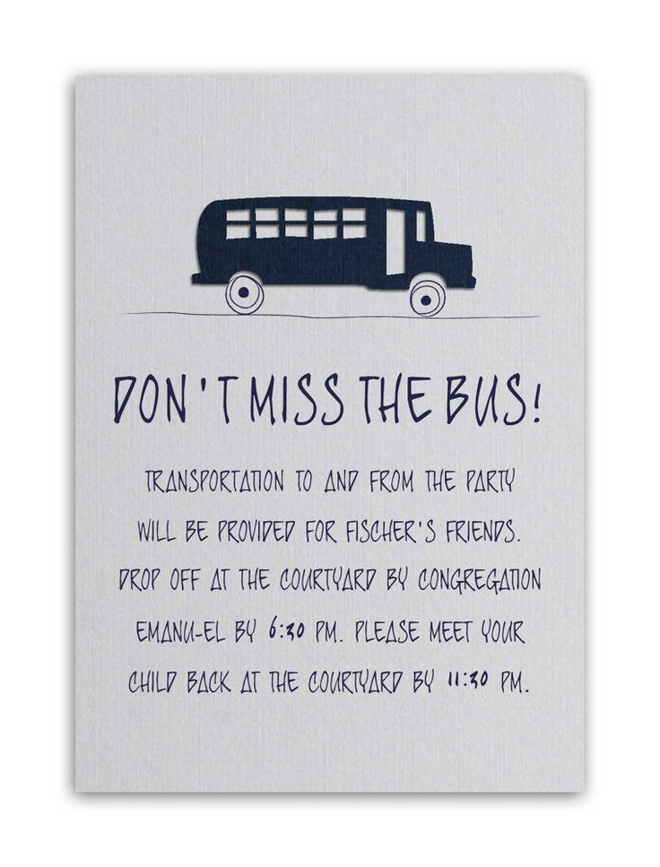 Wedding Invitation Transportation Wording
