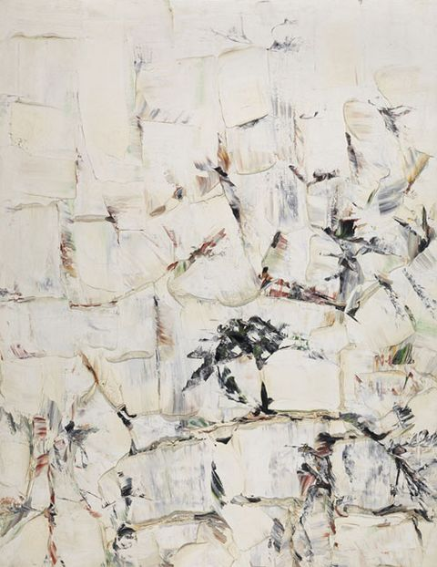 Paul-Émile Borduas (1905-1960), ca. 1956,  Fond blanc, oil on canvas.