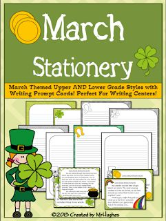 """FREE LANGUAGE ARTS LESSON - """"March Themed Stationery {FREEBIE}"""" - Go to The Best of Teacher Entrepreneurs for this and hundreds of free lessons. #FreeLesson   #TeachersPayTeachers   #TPT   #LanguageArts   #St.Patrick'sDay  http://www.thebestofteacherentrepreneurs.net/2013/03/free-language-arts-lesson-march-themed.html"""
