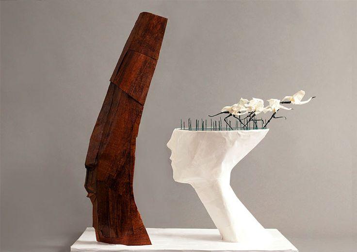 современная скульптура, необычные скульптуры, декоративные скульптуры, применение искусства бумажной пластики оригами, бумажные скульптуры фото