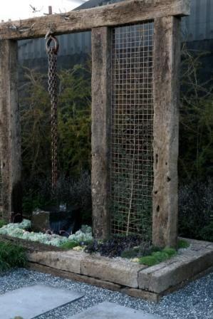 Railway sleeper feature ideas for new garden