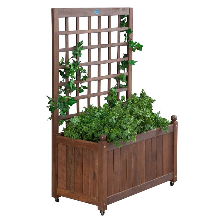 Buy Jordan Manufacturing Wood Planter Box with Trellis: Constructed of beautiful, tropical Balau wood. View ratings, reviews or browse similar Outdoor Privacy Screens at Hayneedle.