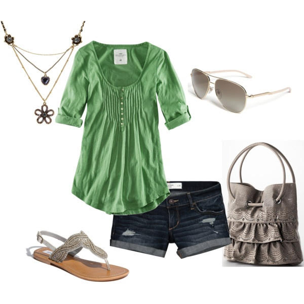 OutfitSummer Outfit, Shirts, Clothing, Day Outfit, Colors, Crui Outfit, Cute Outfit, Green Day, Dreams Closets