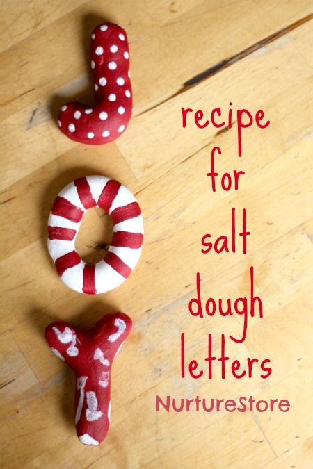 Joy! A Christmas salt dough recipe ~ great for making decorations. | NurtureStore :: inspiration for kids