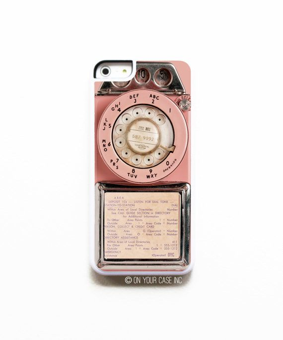 iPhone 5C Case. Vintage Pink Payphone Case for by onyourcasestore