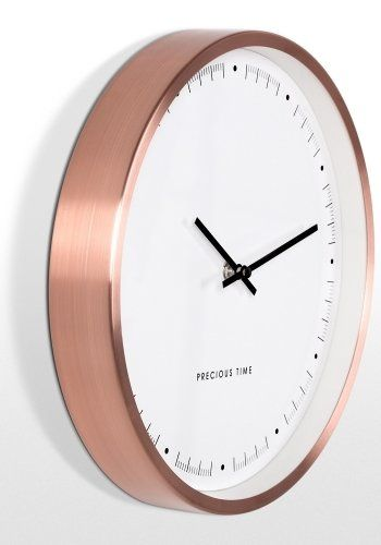 The Aurelia Wall Clock in Copper. Elegant with a clean modern look. The perfect modern metalic. £29 | MADE.COM
