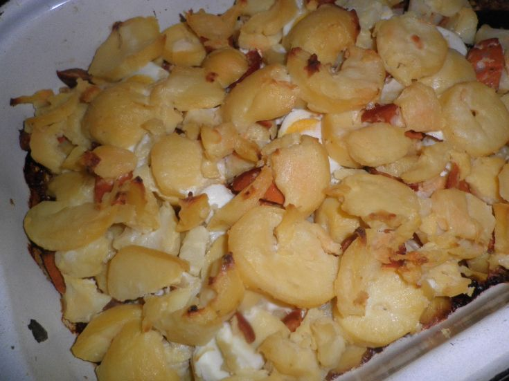 Fotorecept: Francúzske zemiaky so smotanou