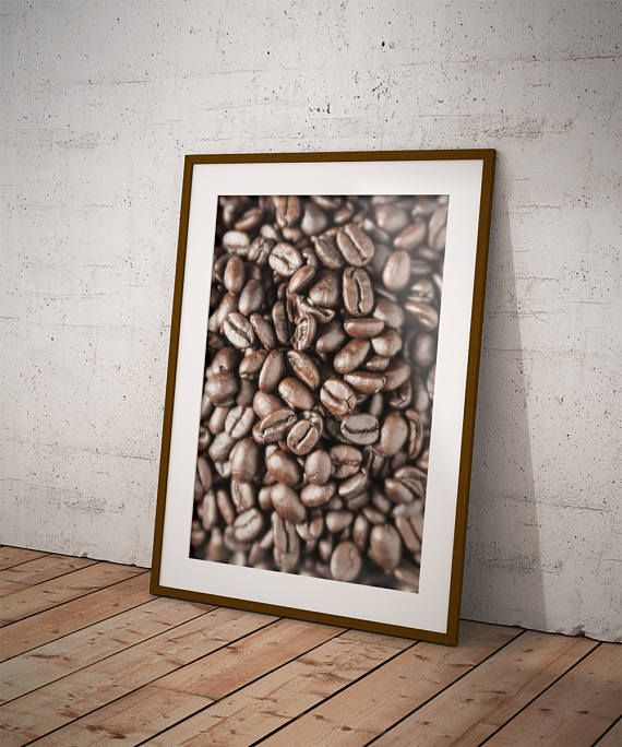 Coffee Bean Art Coffee Gift Coffee Poster Gifts For Coffee Lovers Coffee Kitchen Decor Kitchen Coffee Wall Art Coffee Bean Art Coffee Decor Kitchen