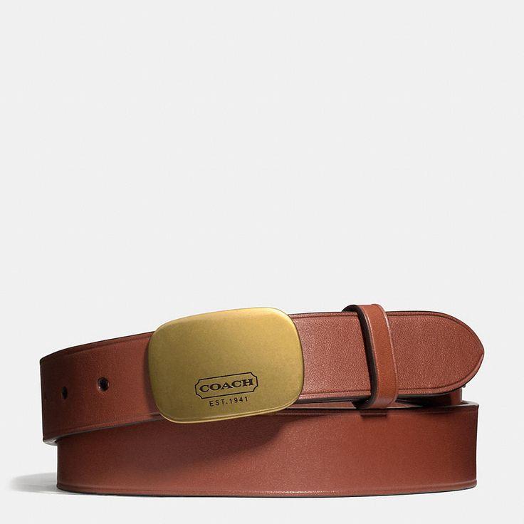 Bleecker Leather Plaque Belt