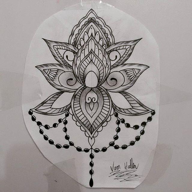 Estudo de hoje, flor ornamental lótus, Disponível para tatuar contato 27 998262449 #drawing #draw #desenho #flordelotus #rasta #rastatattoo #vamhallen #terço