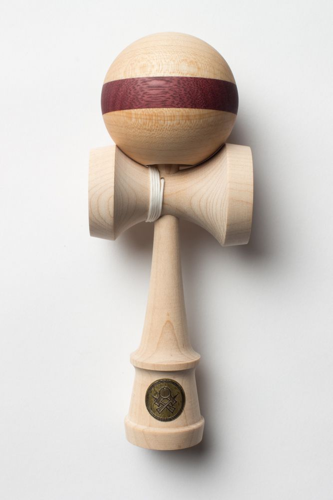 Homegrown Maple w/ Purpleheart Stripe Cushion - Sweets Kendamas