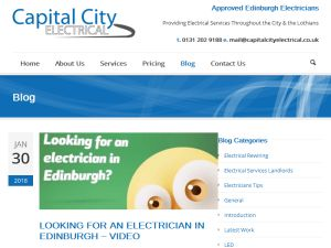 Capital City Electrical are NICEIC approved electricians in Edinburgh. They undertake a full range of electrical services for both domestic and commercial customers e.g.rewiring, LED lighting...