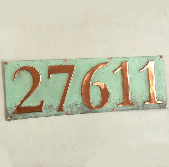 Traditional House numbers 5 x 3/75mm or 4 by DavidMeddingsDeSign