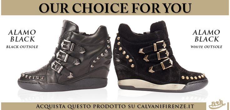 Le #sneaker con #zeppa #impreziosite da #borchie #Alamo di #Ash sono le #scarpe #musthave per #ai13! #Comode e #fashion! #Totalblack o #blackandwhite?!