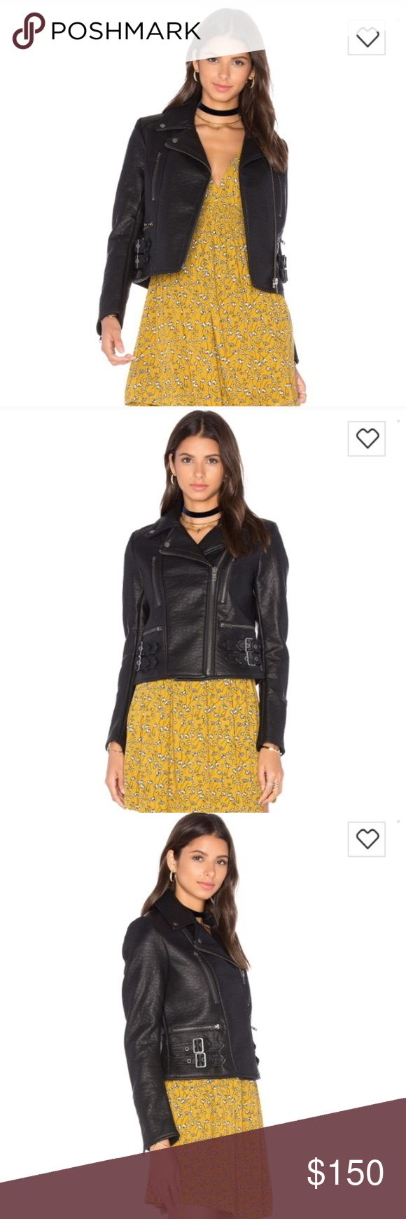 Free People Vegan Leather Jacket Brand new without tags, 100% vegan leather. No imperfections as it was only tried on, but never worn. Says size 8, but runs a little small, would be best for a small medium (6). Still for sale at Revolve for $198 Free People Jackets & Coats