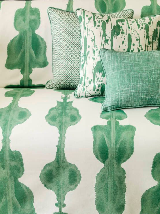 Green Cushion Green and White Emerald Green Cushion Cover