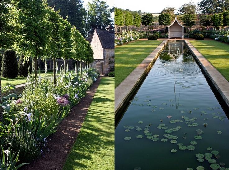 .ψ.Ψψψ.. Temple Guiting Manor in the Cotswolds, gardens designed by Jinny Blom